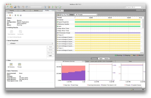 Profiling the JVM with NetBeans