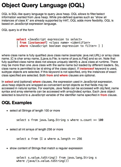 OQL primer