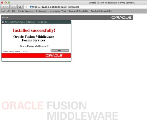 How To Run Oracle Forms 11g Applications on OS X Lion